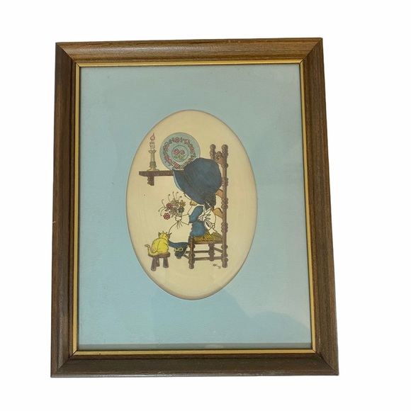 """Vintage Holly Hobby Style Drawing 8"""" x 10"""" Frame"""